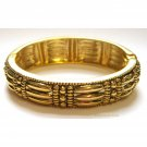 Gold fashion bangle with crystals
