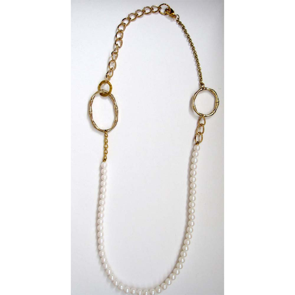 ooak pearl fashion necklace