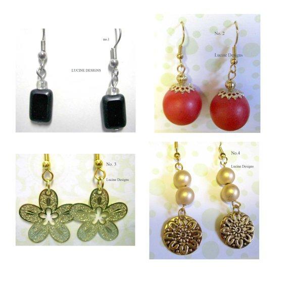 Earrings LOT of 4 new dangle fashion jewelry