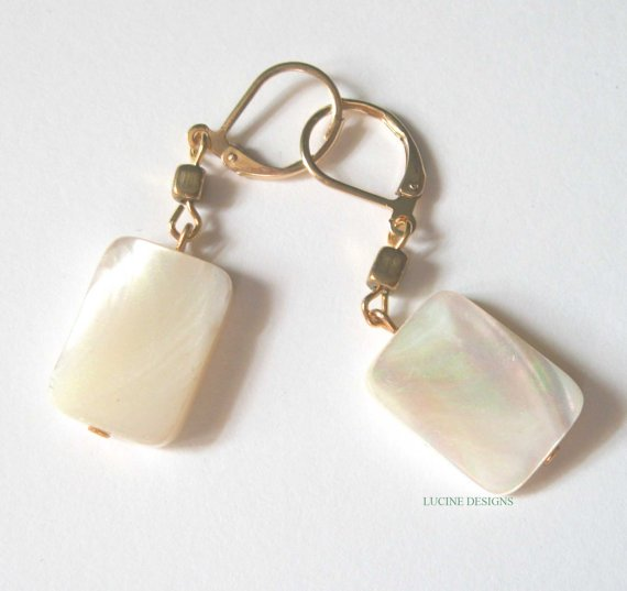Mother of pearl earrings fashion dangle jewelry