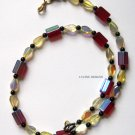 Red yellow onyx necklace fashion jewelry
