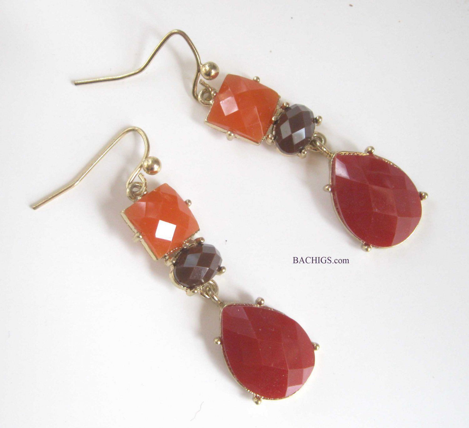 Red purple orange earrings fashion jewelry drop earrings