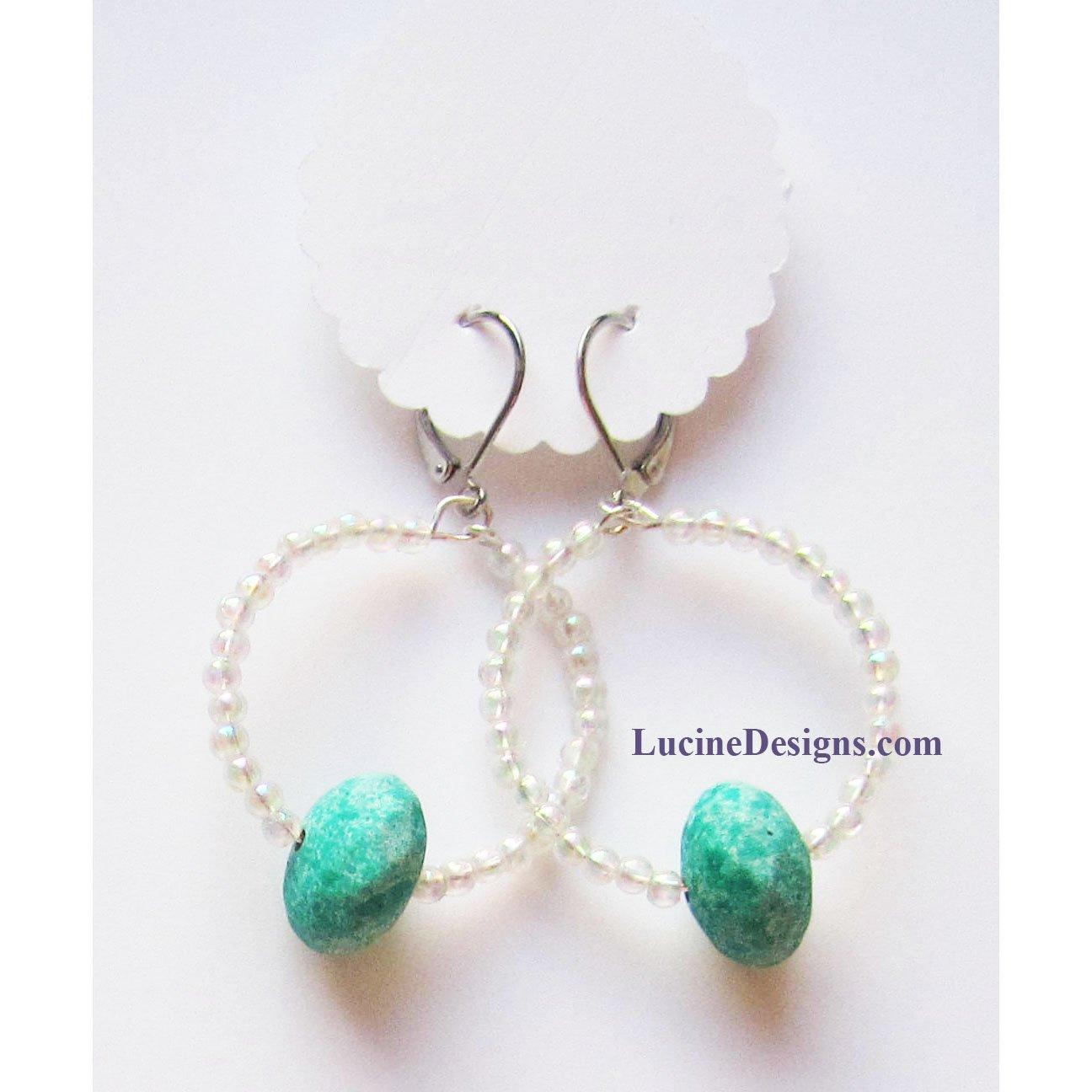 Turquoise fashion drop earrings