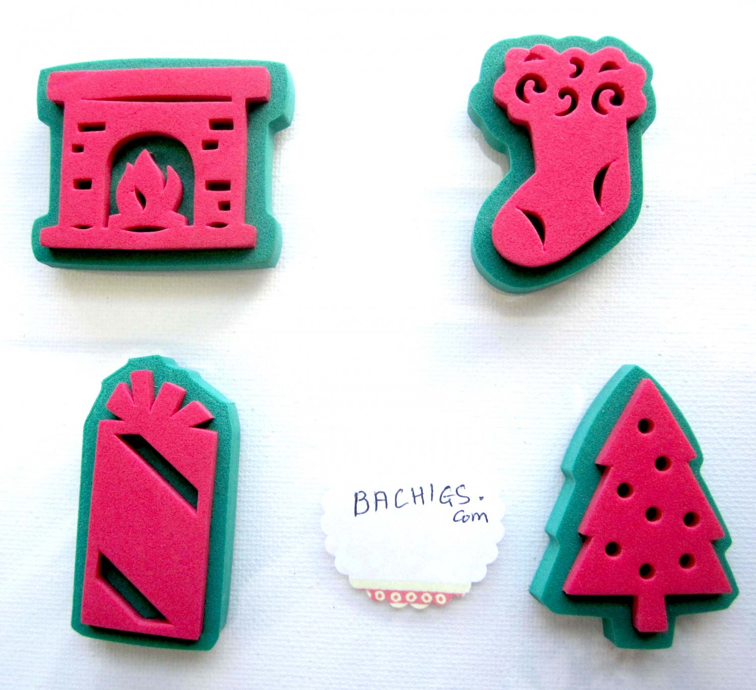 Christmas stamps set fireplace stocking gift tree for scrapbooking and diy notecards