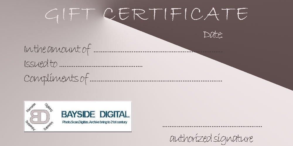 BAYSIDE DIGITAL $25 Gift Certificate