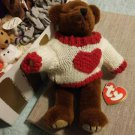 "CASANOVA the bear ""You Hold The Key To My Heart"" TY beanie collectible"