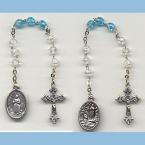 Our Lady of Lourdes/St. Bernadette Chaplet Crackle Beads