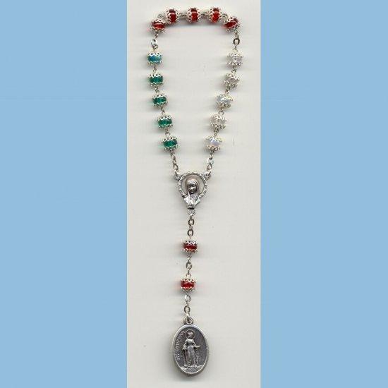 St. Dymphna Chaplet Capped AB Druks