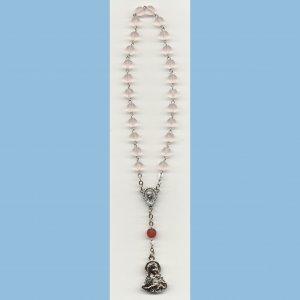 St. Therese Chaplet Matte Druks Rose Medal
