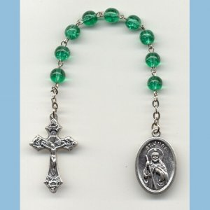 St. Jude Chaplet Crackle Beads