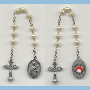 St. Lucy Chaplet 3rd Class Glass Pearls SE