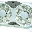 """Comfort Zone 9"""" Reversible 3-Speed Twin Window Fan w/ Remote Control CZ310R"""