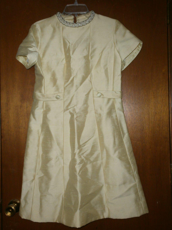 Vintage Iridescent Yellow Ladies Dress