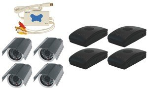4 Channel Wireless USB DVR Surveillance System