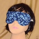 --Soft Padded Eye Sleep Mask Migraine Relief Blue Flowers--