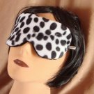 --ANIMAL VELVET SOFT PADDED  DALMATIAN  SLEEP MASK TRAVEL--