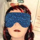 --SLEEP MASK, BLINDFOLDS, TRAVEL MASK, RELAXING blue flowers--