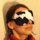 --ANIMAL VELVET SOFT PADDED  CALF(COW)  SLEEP MASK TRAVEL--