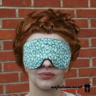 --WHITE / GREEN SOFT PADDED EYE / SLEEP MASK blindfolds travelrelax meditation--