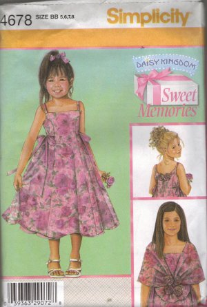 Simplicity Daisy Kingdom Sewing Pattern 4678 (5-8)