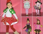 Simplicity Costume Sewing Pattern 0812 - Child's Fairy, Ballerina, Leopard, and Clown Skirt