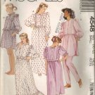 McCall's Sewing Pattern 4548 - Misses' Robe, Nightgowns, Pajamas, Nightshirt (10-12)