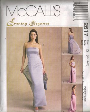 """McCall's """"Evening Elegance"""" Sewing Pattern 2617 - Misses' Lined Gown & Bag (4 - 18)"""