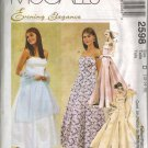"McCall's ""Evening Elegance"" Sewing Pattern 2598 - Misses' Lined Dresses, Crinoline, Stole (4-16)"