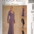 "McCall's ""Evening Elegance"" Sewing Pattern 2494 - Misses' Lined Dress & Shrug (4-18)"