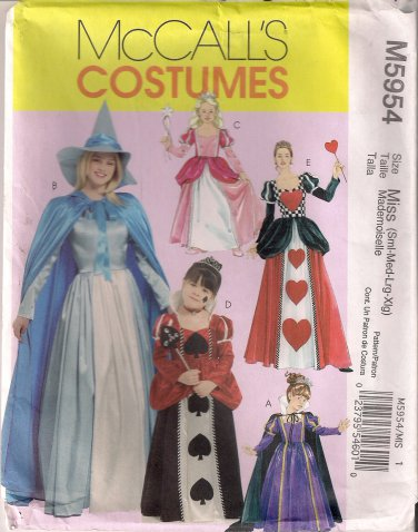 McCall's Costume Sewing Pattern M5954 - Misses'/Girls' Storybook Costumes (3-8, S-XL)