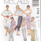 McCall's Sewing Pattern 2759 - Misses' Capri Pants (4-8, 8-12)