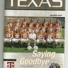2010 Texas v Texas A&M Football Program