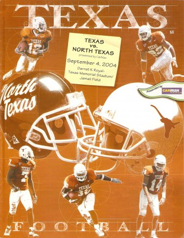 2004 Texas v North Texas  Program