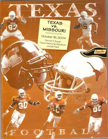 2004 Texas v Missouri Program