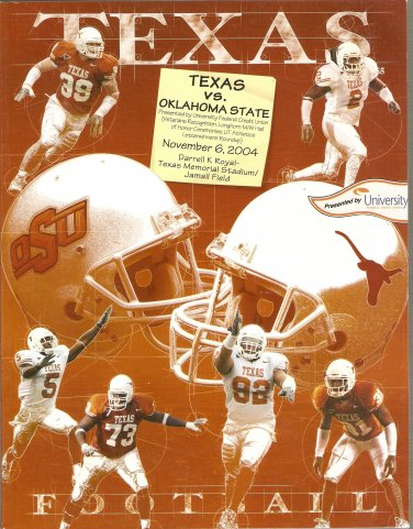 2004 Texas v Oklahoma State Program