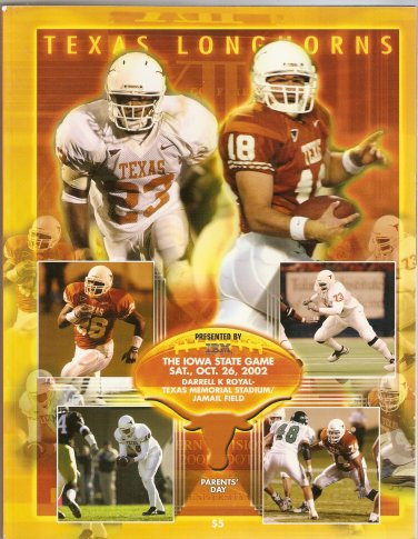 2002 Texas v Iowa State  Program
