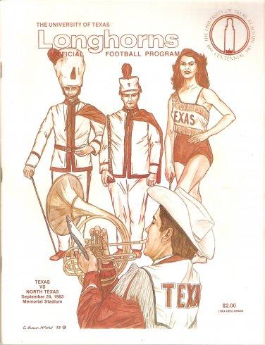 1983 Texas v North Texas  Program