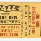 1972 Texas v Baylor Ticket Stub