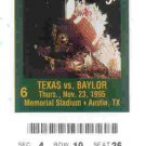 1995 Texas v Baylor Ticket Stub
