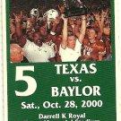 2000 Texas v Baylor Full Ticket Major Applewhite