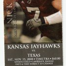 2008 Texas v Kansas Full Ticket