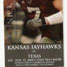 2008 Texas v Kansas Full Ticket
