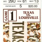 1994 Texas v Louisville Ticket Stub