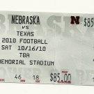 2010 Texas v Nebraska Full Ticket