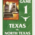 2002 Texas v North Texas Ticket Stub
