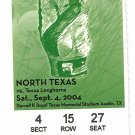 2004 Texas v North Texas Ticket Stub Vince Young