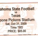2009 Texas v  Oklahoma State Full Ticket Colt McCoy
