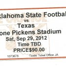 2012 Texas v  Oklahoma State Full Ticket