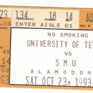 1993 Texas v SMU Ticket Stub