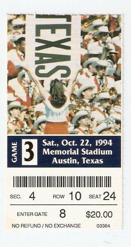 1994 Texas v SMU Ticket Stub